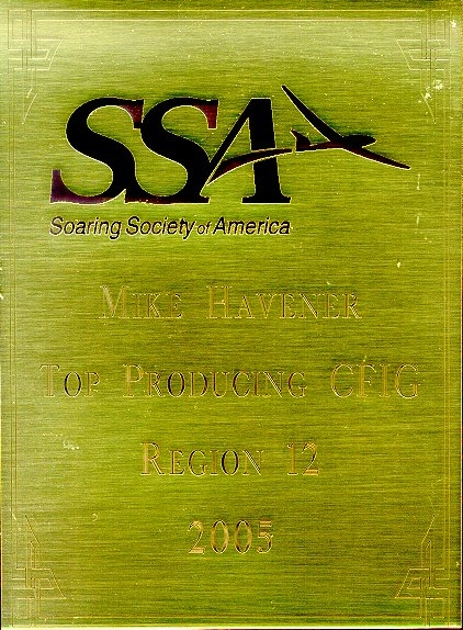 2005 Top Producing SSA Instructor for Region 12 award